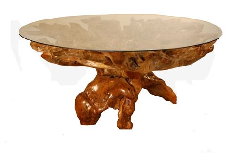 Next Door Furniture by Mahogany Root Dining Table With Glass Top From Next