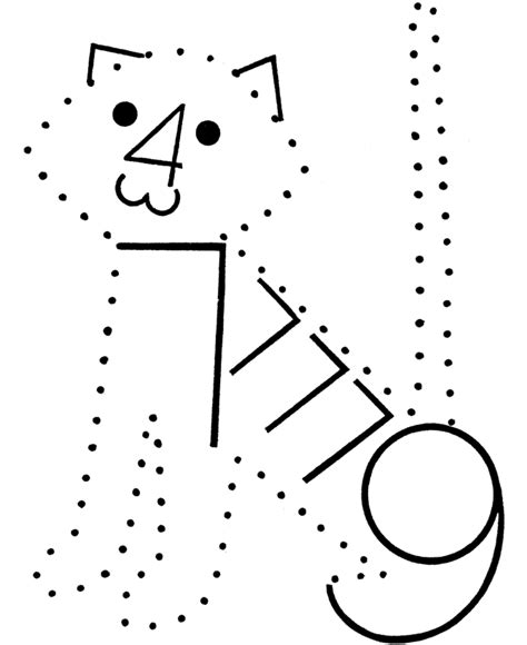 coloring pages numbers and shapes number dots coloring activity pages number cat connect