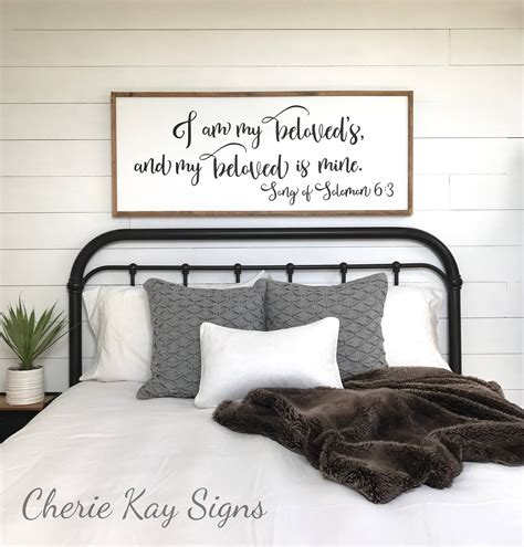 bedroom wall signs master bedroom sign i am my beloveds bedroom wall decor
