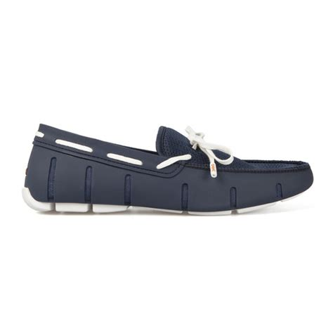 navy and white loafers swims navy white lace loafers oxygen clothing