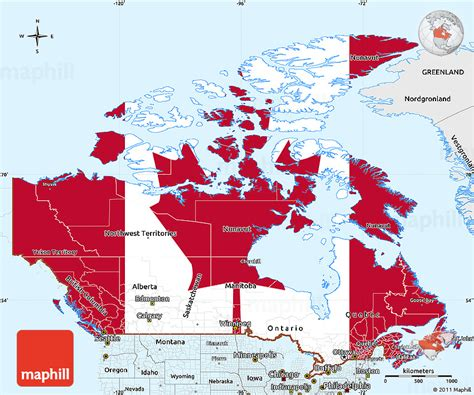 label map of canada map of canada with labels travel maps and major tourist