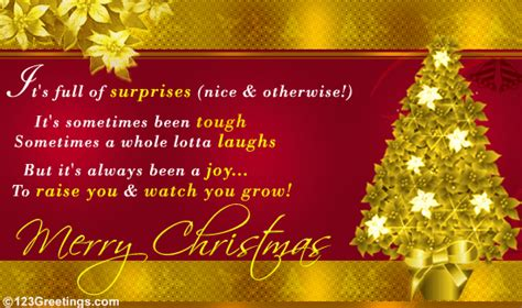 christmas wishes  son  daughter  family ecards greeting cards