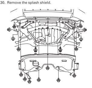 engine splash shield replacement   honda ridgeline owners club forums