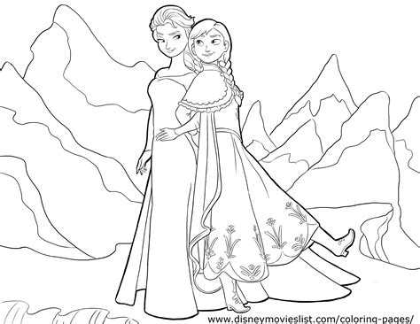 frozen coloring pages easy frozen drawing for coloring coloring page