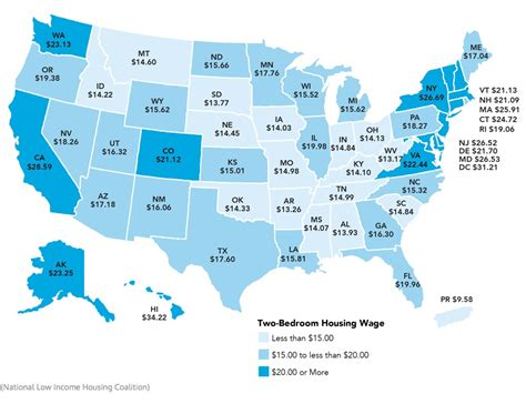 low cost of living states us map cost of living
