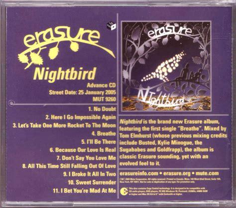 Erasure Nightbird Vinyl - erasure nightbird cd album at discogs