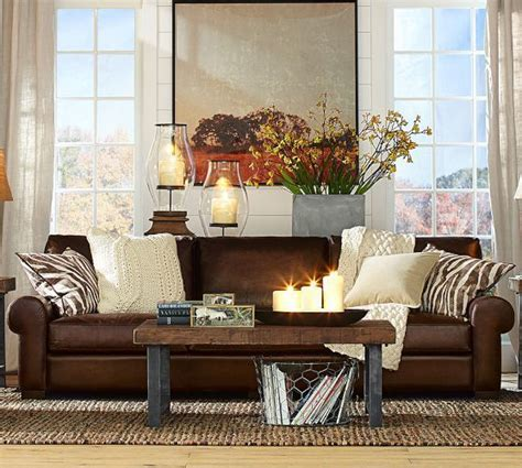 turner leather sofa pottery barn google search leather