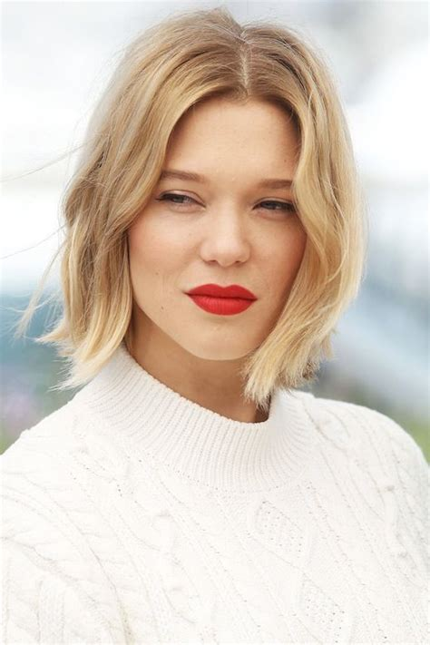 blonde bob red lips the top red lipsticks for fall and winter le fashion