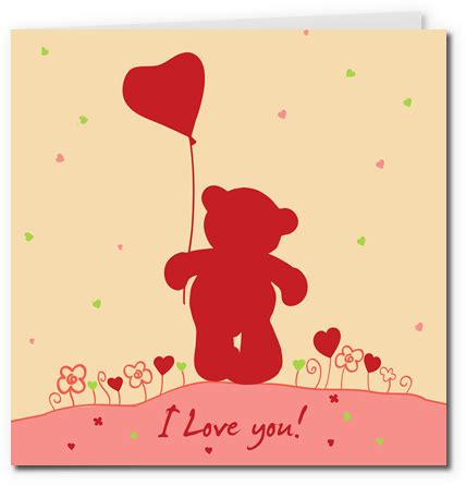 Teddy Card Template by Free Printable Cards