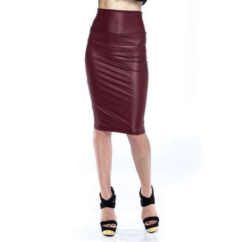 maroon faux leather skirt dress