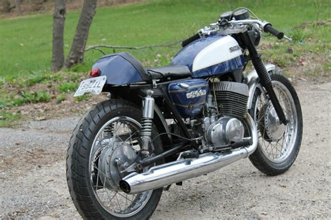 Suzuki T500 Parts by 1971 Suzuki T500 Cafe Racer For Sale Bike Urious