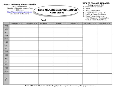 template for time management schedule time management planner templates calendar template 2016