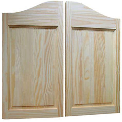 western style swinging doors raised two panel pine saloon doors old western style