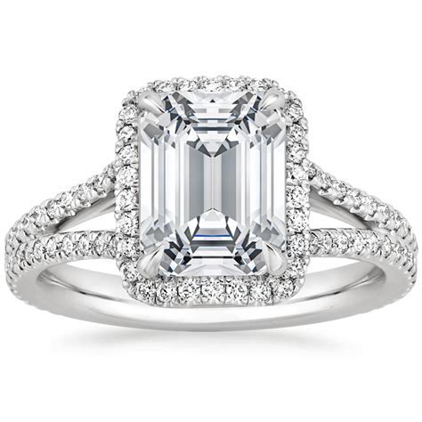 Split Shank Halo Engagement Ring   Fortuna   Brilliant Earth