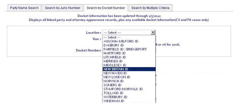 Court Number Search New Court Pc Docket Number Search Tab