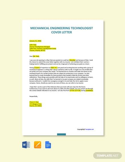 engineer cover letter templates microsoft word