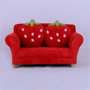 toddlers sofa lounge strawberry seat