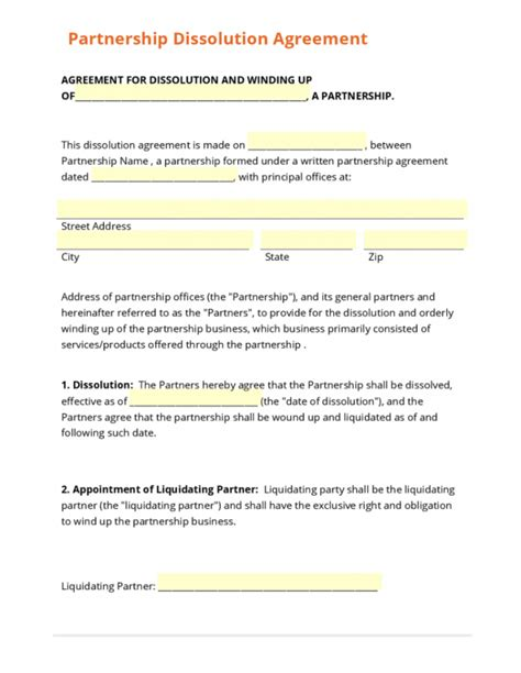 marketing partnership agreement template liquidationent template form ohio llc operating 791x1024
