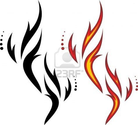 tribal fire tattoos images designs