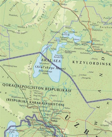 russia map aral sea maps aral sea map