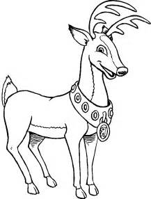 Christmas reindeer coloring for kids christmas coloring pages