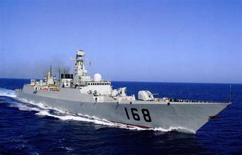 组图 隶属南海舰队的168号战舰与887号补给舰 新浪军事 新浪网