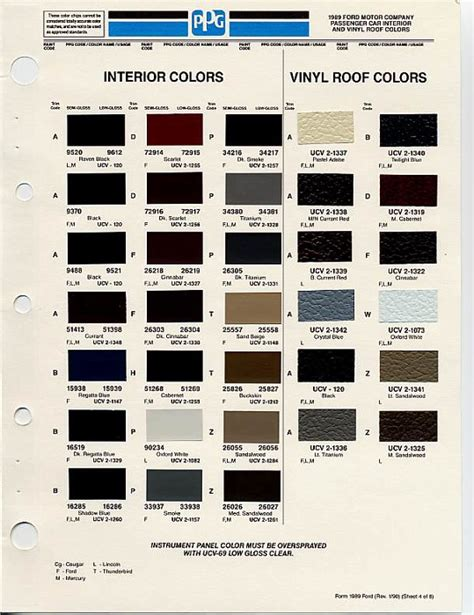ppg paint color chart motorcycle review and galleries