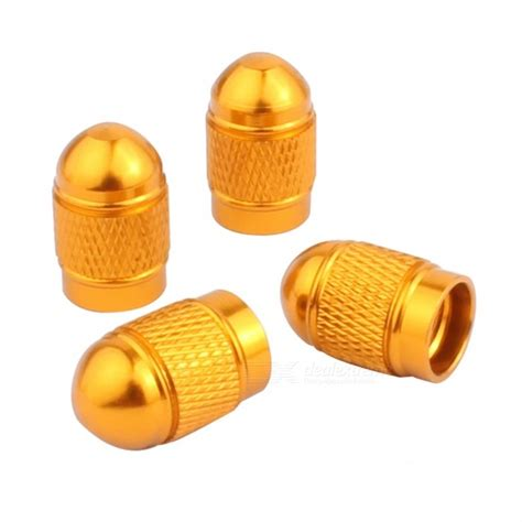 mz bullet style tire valve stem caps  car golden  pcs  shipping dealextreme