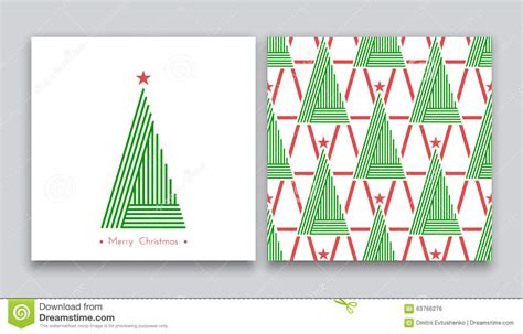 christmas pattern lines christmas tree in line art 02 stock illustration image