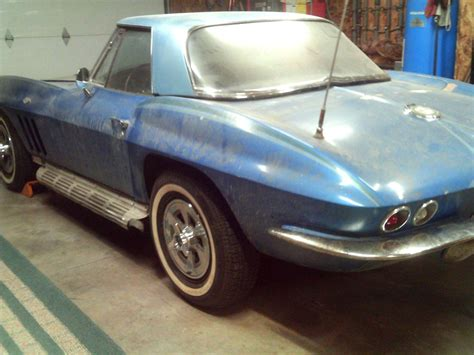 corvettes on ebay barn find 1965 corvette convertible