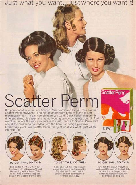 1950s perms vintage hair adverts 1960s 70s products styles and