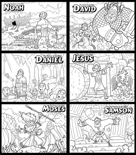 free coloring pages bible heroes bible heroes stuff