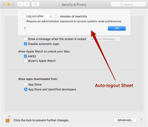 Os X Disable Auto Logout macos disable auto logout if enabled it