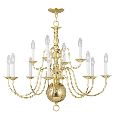 Williamsburg Light Fixtures Polished Brass Foyer 12 L Livex Williamsburg Chandelier Fixture Lighting 5014 02 Ebay