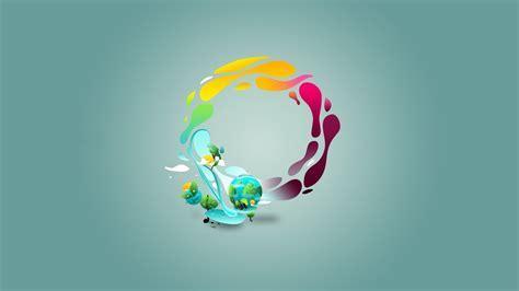 Earth minimalistic nature vector art vectors wallpaper