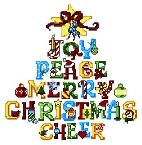 joy tree cross stitch pattern whimsy