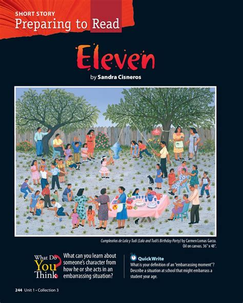 themes for short story eleven eleven by sandra cisneros pdf betterlesson middle
