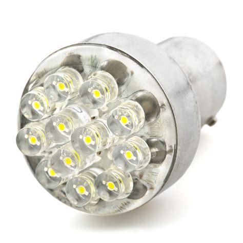 1142 led bulb 12 led forward firing cluster ba15d
