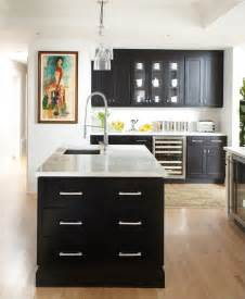 kitchen cabinets black and white get this look black white chic zillow porchlight