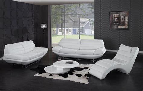 Sa 2178 Time Black White Leather sofa set white jaguar leather sofas