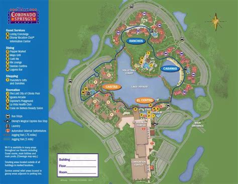 coronado springs resort map the casitas ranchos and cabanas at disney s coronado springs resort yourfirstvisit net