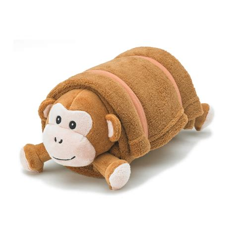 Brown Pillow Pet by Brown Monkey Plush Pet Pillow With Blanket Nap Mat Cover Pillow Blanket