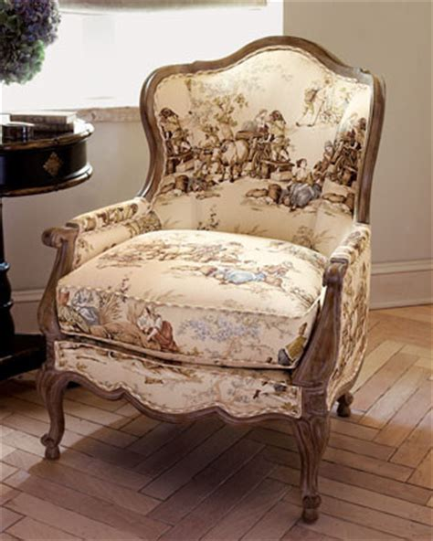 quot frontier country quot toile chair traditional armchairs
