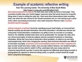 Critical Incident Essay by How To Write A Reflective Essay Resume Exles Essay Thesis Statement Exle Reflective Essay