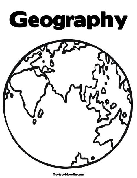 Geography Coloring Book 28 Images World