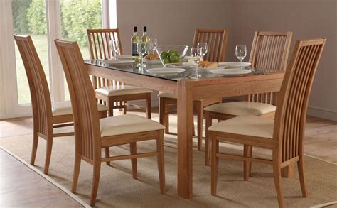 Oak Dining Room Tables And Chairs Callisto Newark Oak Glass Dining Set Ivory Seat Pad Only 163 499 99 Furniture Choice