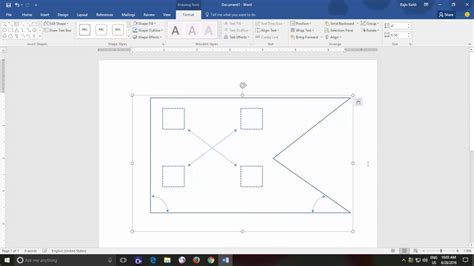 microsoft drawing how to and ungroup shapes microsoft word 2016 drawing tools tutorial