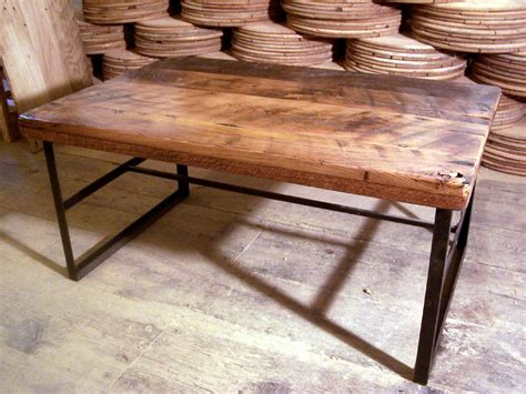 Reclaimed Wood And Metal Coffee Table Reclaimed Wood Coffee Table With Industrial Metal Base