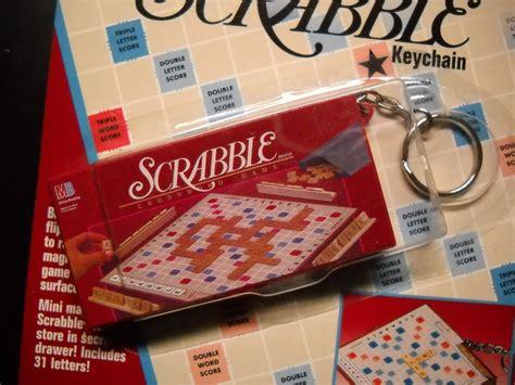 basic scrabble basic key chain scrabble miniature boxed and 50