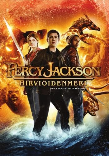 The Sea Of Monsters Cover 8 Th Anniversary Percy J Oleh Rick R percy jackson hirvi 246 idenmeri dvd discshop fi